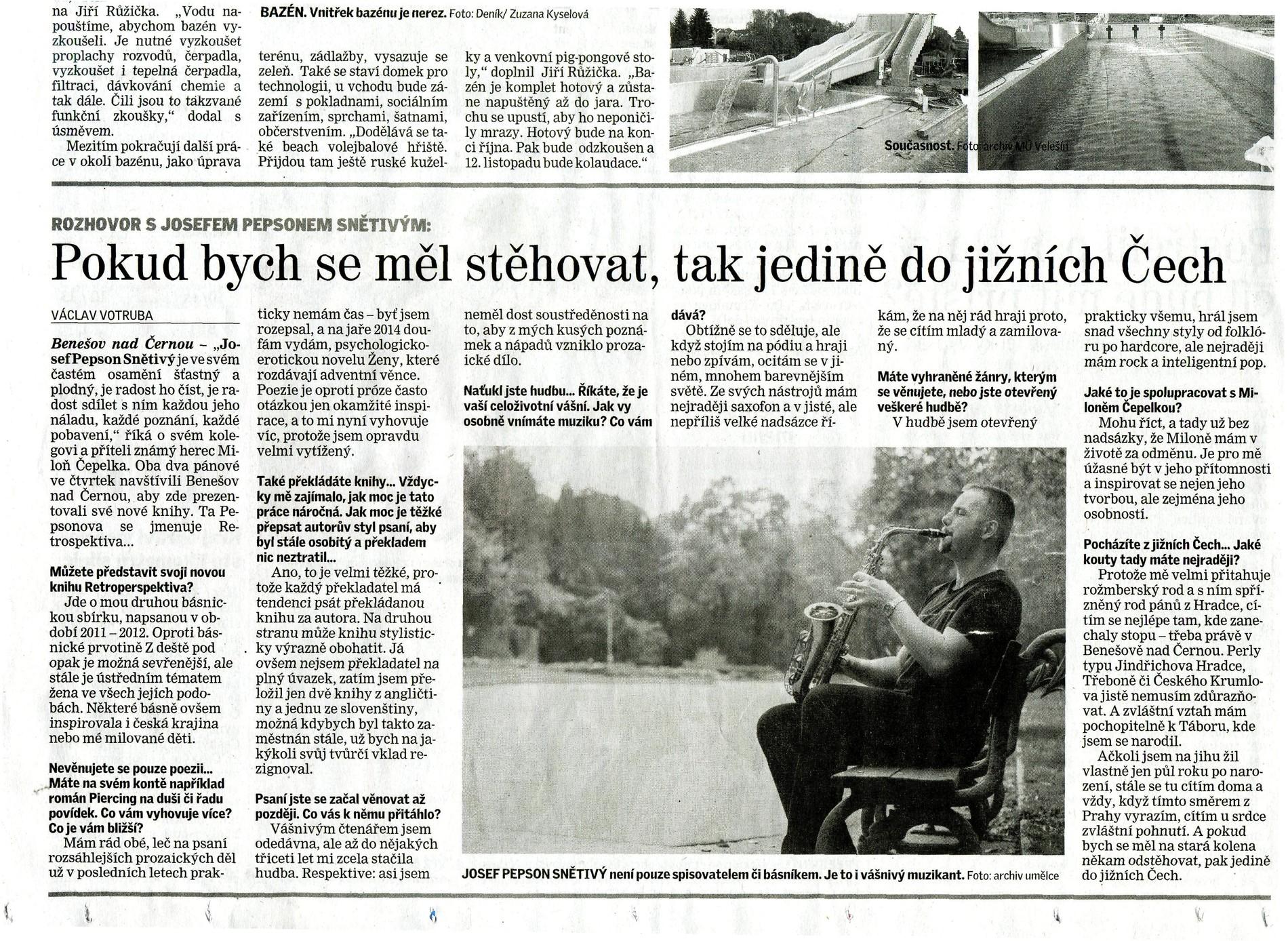 657d9950d18 Rozhovor otištěný v Českokrumlovském deníku si přečtěte ...